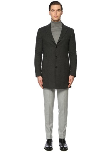 NetWork NetWork 1072015 Slim Fit Lacivert Palto Erkek Palto Antrasit